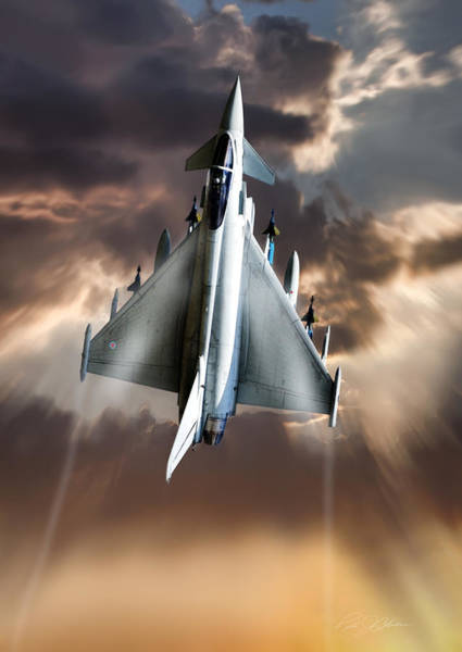 Royal Air Force Digital Art - Typhoon Rising by Peter Chilelli
