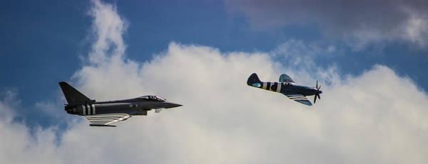 Jet Fighter Photograph - Typhoon V Spitfire by Martin Newman