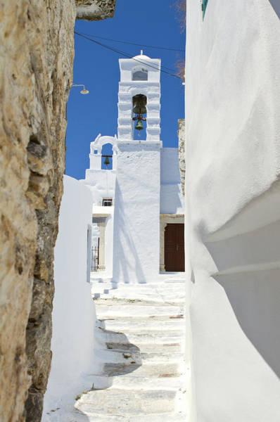 Ancient Greek Photograph - Typical Greek Alley Of A Village by Joakimbkk