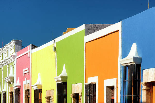 Campeche Photograph - Typical Houses In Yucatan by Jean-pierre Lescourret