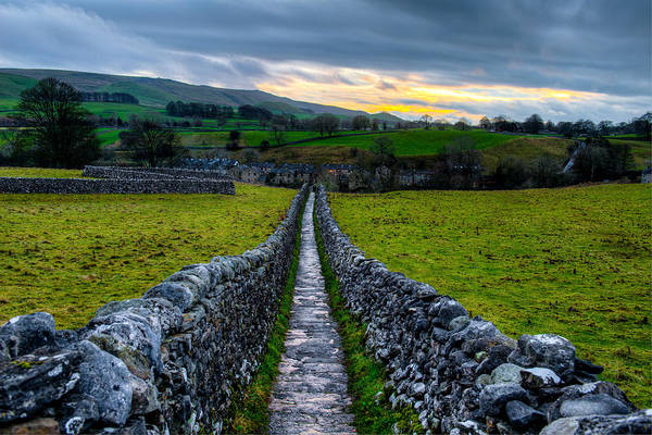 Photograph - Typical Long Narrow Stone Country Walkway To A Small Village by Dennis Dame