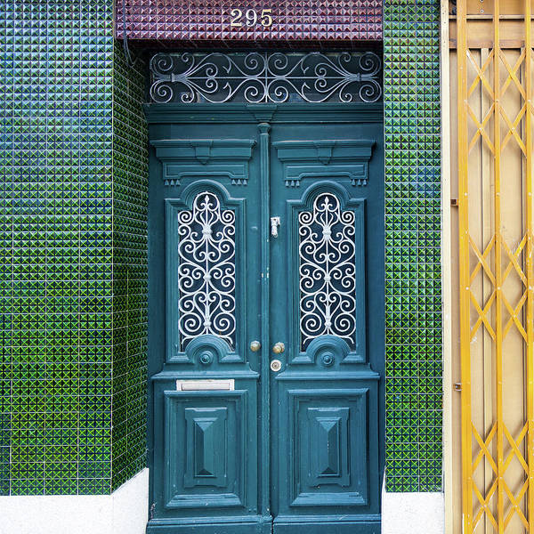 Blues Alley Photograph - Typical Portugal Doors In Oporto Old by Leopatrizi