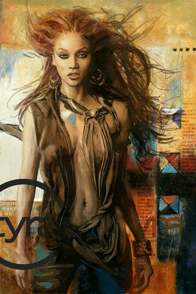 Bollywood Wall Art - Painting - Tyra Banks by Corporate Art Task Force