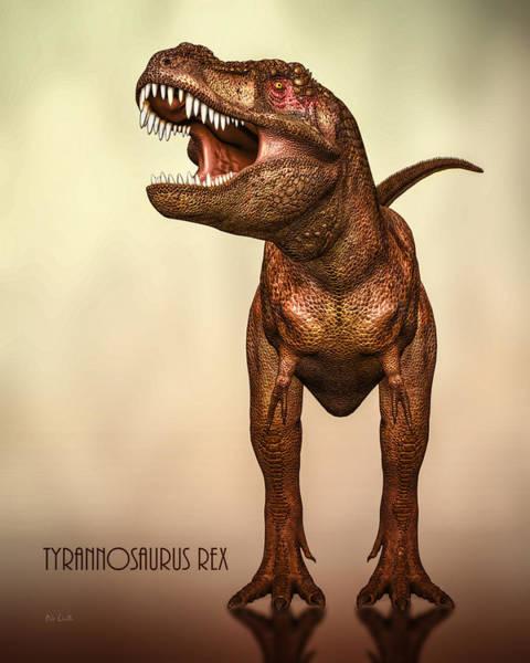 Lizards Digital Art - Tyrannosaurus Rex 2 by Bob Orsillo