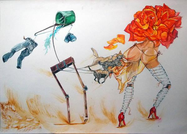 Wall Art - Painting - Tyrants Of Desire by Lazaro Hurtado