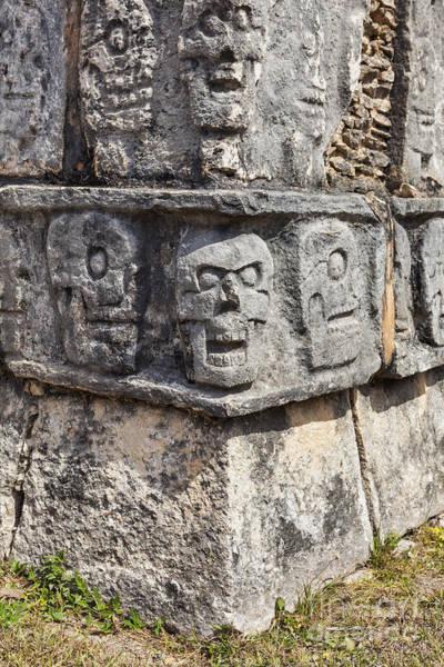 Photograph - Tzompantli Or Platform Of The Skulls At Chichen Itza by Bryan Mullennix