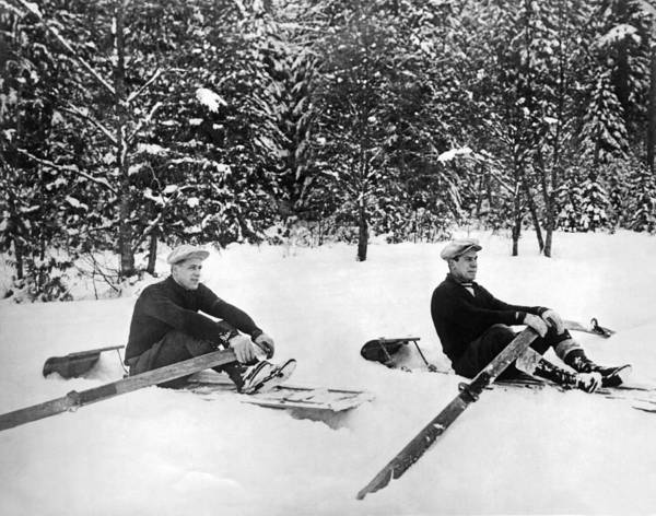 Rowing Wall Art - Photograph - U Of W Crew Stage Toboggan Race by Underwood Archives