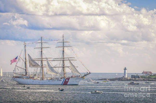 Nh Photograph - U S C G C  Eagle Passes Fort Constitution Newcastle N H by Scott Thorp