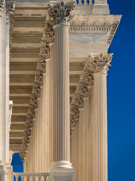 Capitol Photograph - U S Capitol Columns by Steve Gadomski