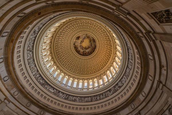 Rotunda Photograph - U S Capitol Rotunda by Steve Gadomski