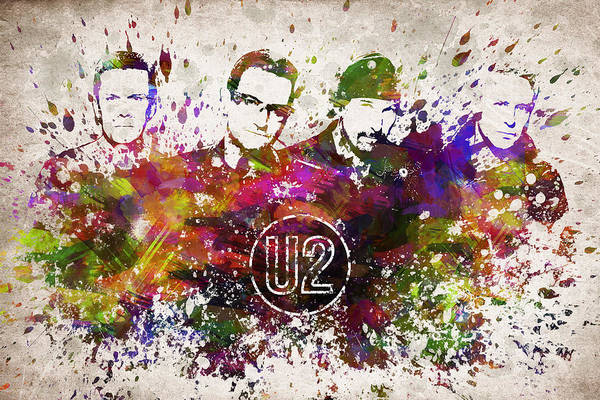 Wall Art - Digital Art - U2 In Color by Aged Pixel