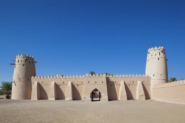 Wall Art - Photograph - Uae, Al Ain Al Jahili Fort by Walter Bibikow