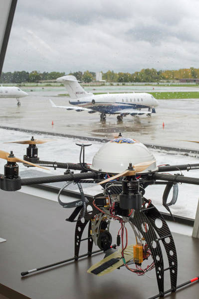 Rotor Photograph - Uav Drone At An Airport by Jim West
