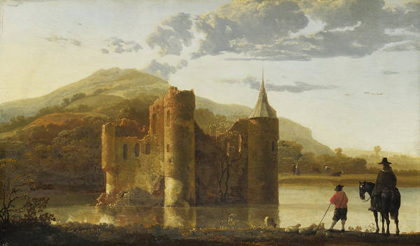 Cuyp Wall Art - Painting - Ubbergen Castle by Aelbert Cuyp