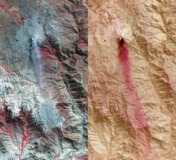 Wall Art - Photograph - Ubinas Volcano by Nasa/gsfc/meti/ersdac/jaros, Us-japan Aster Science Team