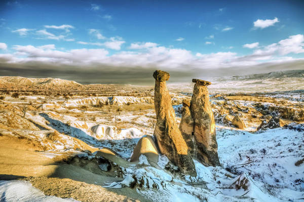 Cappadocia Photograph - Uc Guzeller, Cappadocia by Nejdetduzen