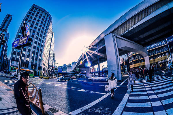 Wall Art - Photograph - Ueno Crossing by Ryan Routt