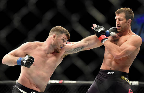 Topix Photograph - Ufc 199 Rockhold V Bisping by Harry How/zuffa Llc
