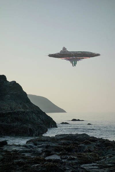 Threat Photograph - Ufo  Flying Saucer  Alien Spacecraft by Coneyl Jay