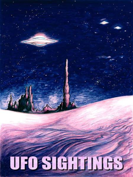 Painting - Ufo Sightings - Alien Space Poster by Peter Potter