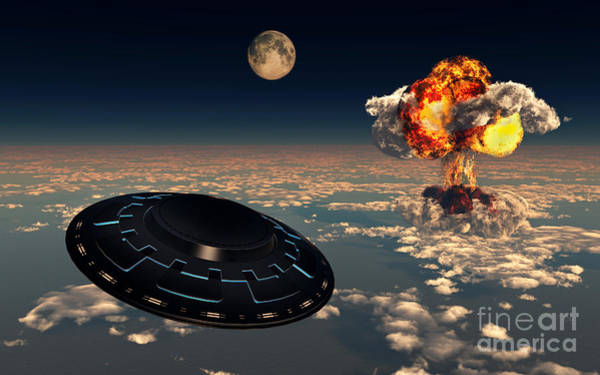 Atomic Weapons Digital Art - Ufo Sightings Increased Since by Mark Stevenson