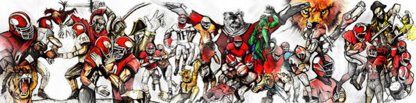 Painting - Uga Full Season Day Print by John Jr Gholson