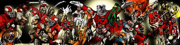 Painting - Uga Full Season Night Print by John Jr Gholson