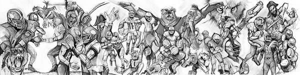 Painting - Uga Full Season Print  by John Jr Gholson