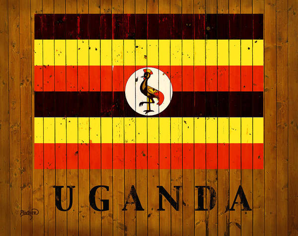 Uganda Wall Art - Digital Art - Uganda Country Flag by Patricia Lintner