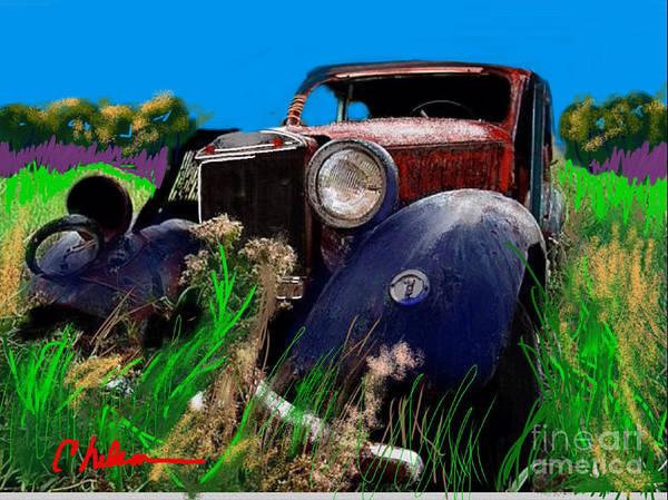 Super Car Mixed Media - Ugly Face by Craig Nelson