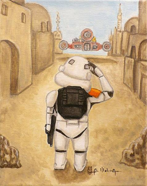 Wall Art - Painting - Uh I Wonder If These Were The Droids I Was Looking For by Al  Molina