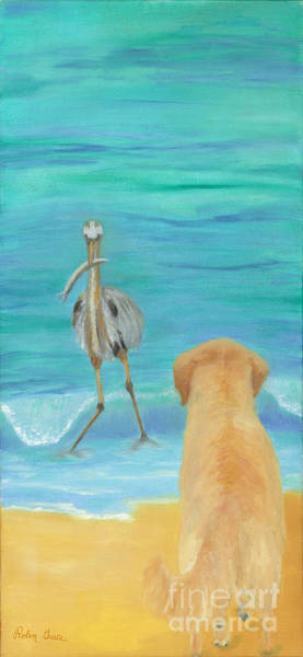 Captiva Island Painting - Uh Oh by Robin Grace