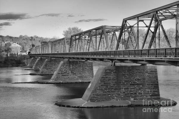 Photograph - Uhlerstown-frenchtown Bridge Black And White by Adam Jewell