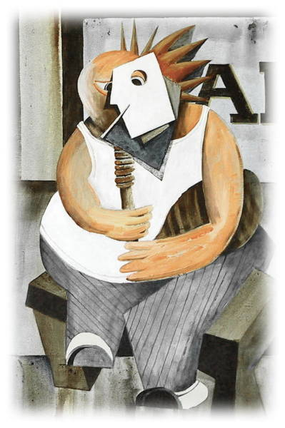 Painting - Uilleann Piper by Val Byrne