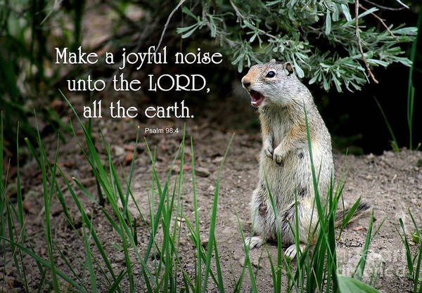 Photograph - Uinta Ground Squirrel - Psalm 98 by E B Schmidt