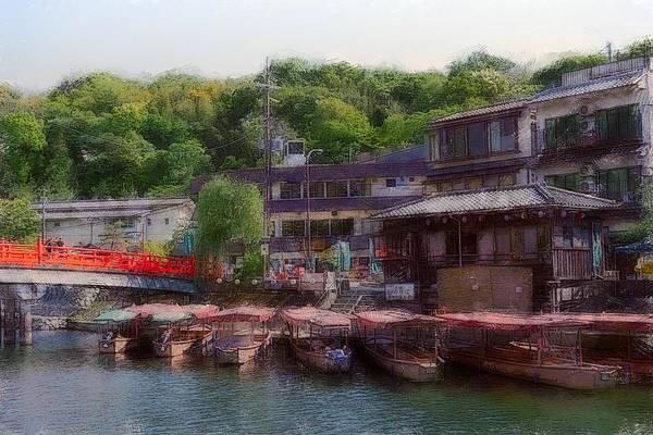 Wall Art - Digital Art - Uji River Boathouse - Kyoto by Daniel Hagerman