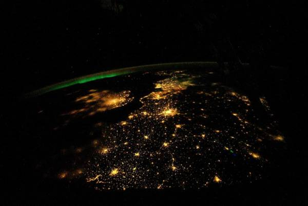 International Space Station Photograph - Uk And Europe At Night From Space by Nasa/science Photo Library