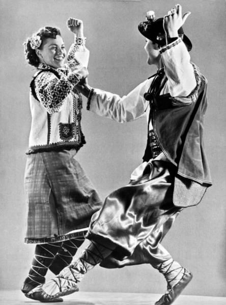 Folk Dances Photograph - Ukrainian Folk Dancers by Underwood Archives