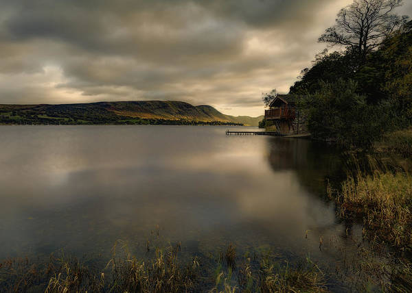 Pooley Bridge Wall Art - Photograph - Ullswater Boathouse by Graham Moore