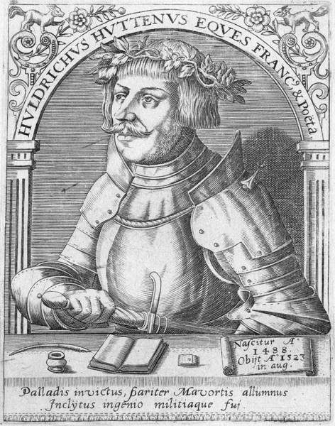 Wall Art - Drawing - Ulrich Von Hutten German Nobleman by Mary Evans Picture Library