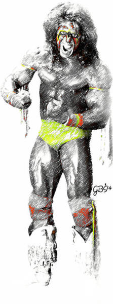 Wwe Wall Art - Digital Art - Ultimate Warrior By Gbs by Anibal Diaz