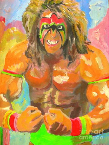 Wwe Wall Art - Painting - Ultimate Warrior by John Morris