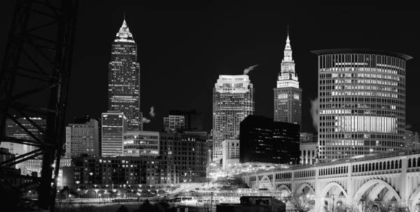 Photograph - Ultra Rez Cleveland Black And White by Clint Buhler
