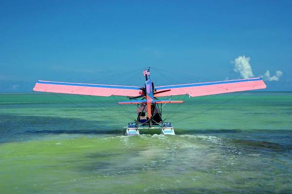 Seaplanes Photograph - Ultralight Seaplane by Mike Theiss/science Photo Library