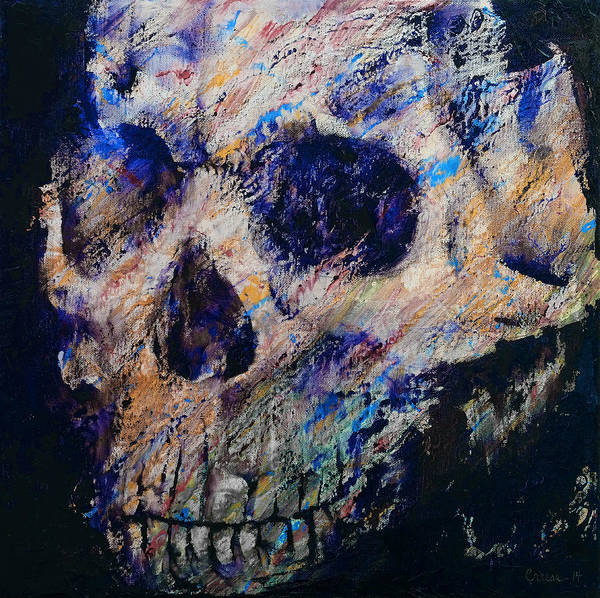 Blacklight Painting - Ultraviolet Skull by Michael Creese