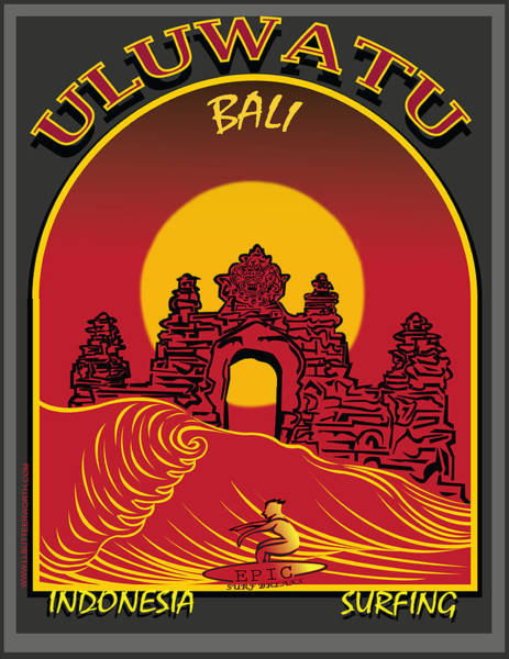 Indonesia Digital Art - Surfing Ulumatu Bali Indonesia  by Larry Butterworth