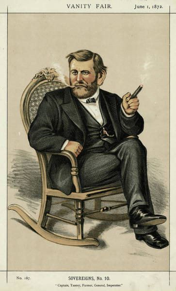 Wall Art - Drawing - Ulysses Grant American Civil War by Mary Evans Picture Library