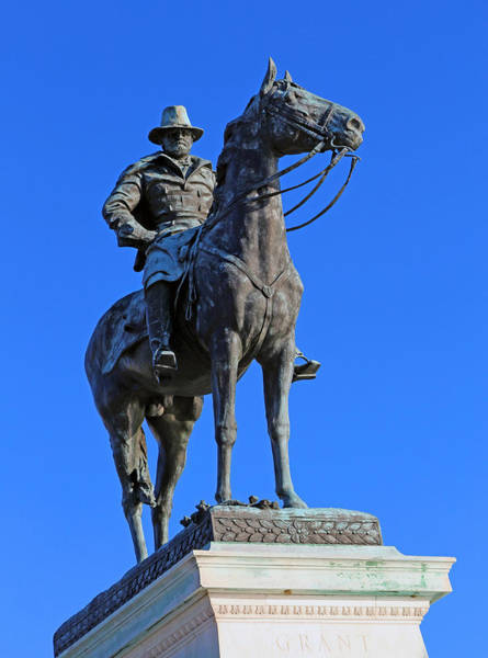 Oct 2013 Photograph - Ulysses S. Grant Guards The United States Capitol by Cora Wandel