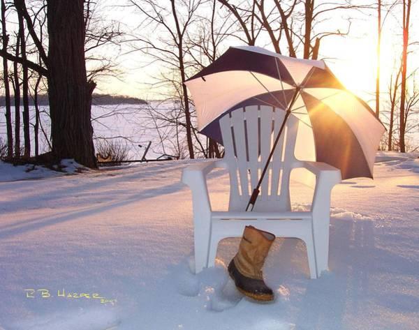Photograph - Umbrella Chair by R B Harper