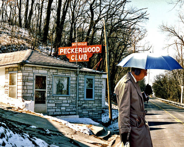Ear Muffs Photograph - Umbrella Man And The Peckerwood Club by Christopher McKenzie
